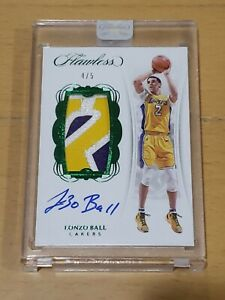 2017-Flawless-Vertical-Lonzo-Ball-Auto-SSP-4-5-RC-True-RPA-3-Clr-Rookie-Patch
