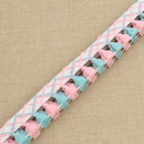 environ 1.83 m Fringe Lace Edge Trims tassel ruban accessoires decor Made crafts À faire soi-même 2 Yd