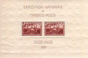 LUXEMBURGO-LUXEMBOURG-1937-MNH-SC-B85-Natl-Philatelic-Expo-Dudelange