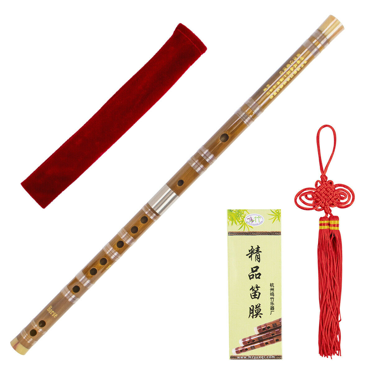 Bamboo Flute Dizi With Dimo Glue Traditional Chinese Musical Instrument F Key Ebay