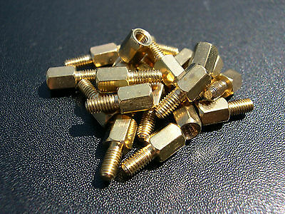 Brass Motherboard Mounting screws 8mm//6mm M3 20 Pack eXXtreme CPU