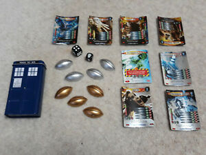 DR-WHO-CARD-GAME-WITH-TARDIS-TIN-Good-Condition-Collectible-Daleks-Cybermen