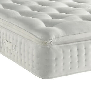 King Pillow Top Mattress To Image Is Loading 3000organicpillowtopmattress3ft4ft4ft6 3000 Organic Pillow Top Mattress 3ft 4ft 4ft6 Double 5ft King Size