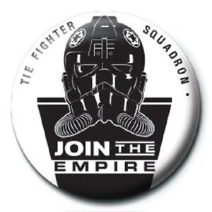 BUTTON BADGE official licensed merchandise SW17 STAR WARS join the empire
