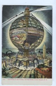 Postcard-Steel-Globe-Tower-Coney-Island-NY-New-York