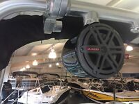 6.5 Black Tower Cans W/ Jl Audio Speakers Mastercraft Style 2006 - 2017