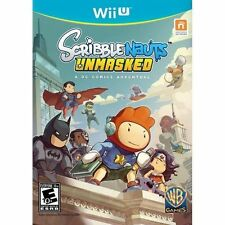 SCRIBBLENAUTS UNMASKED A DC COMICS ADVENTURE - Nintendo Wii U Game Excellent!