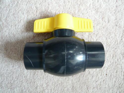 "2/"" Solvent Weld Ball Valve 56mm  Solvent Pipe Fitting Koi Fish Pond Quarantine"