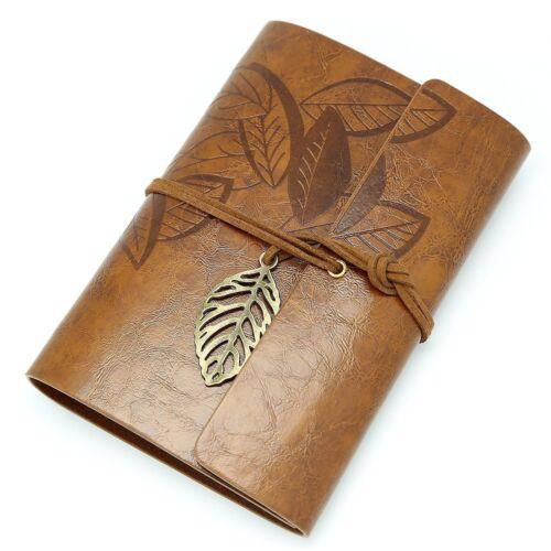 Klassischen Reisetagebuch Baumblatt Leder verklemmter Journal Tagebuch Notizbuch