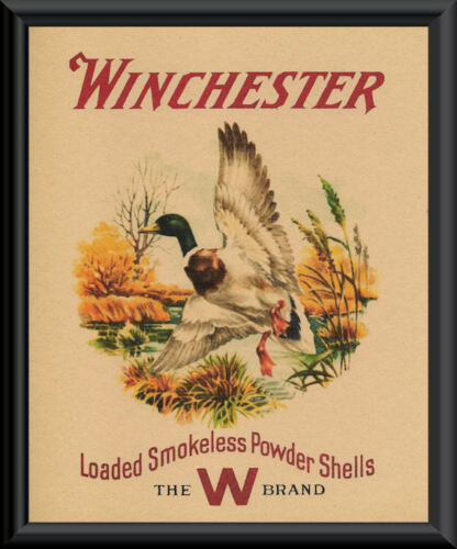 Winchester Mallard Duck Hunting Advertisement Reprint On 90 Year Old Paper *P074