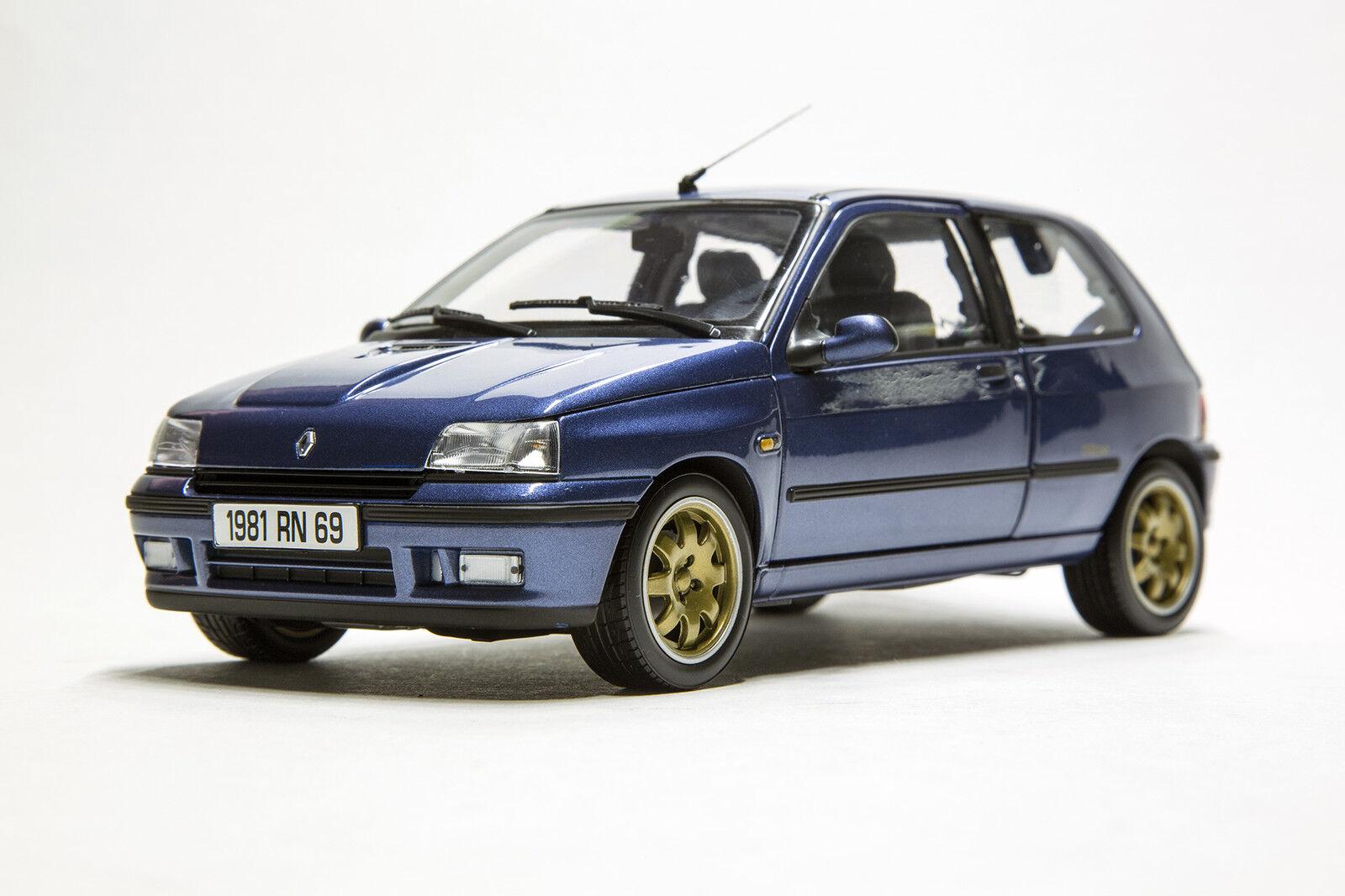 Norev 1  18 voiture Die cast renault clio williams PH the bleu Metallic Art 185230  garanti
