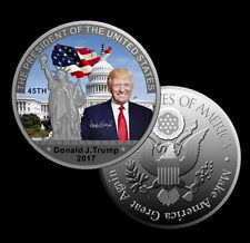 PROOF COLLECTORS COIN COLORIZED Donald TRUMP IN Capsule LARGE Size~U.S SELLER!