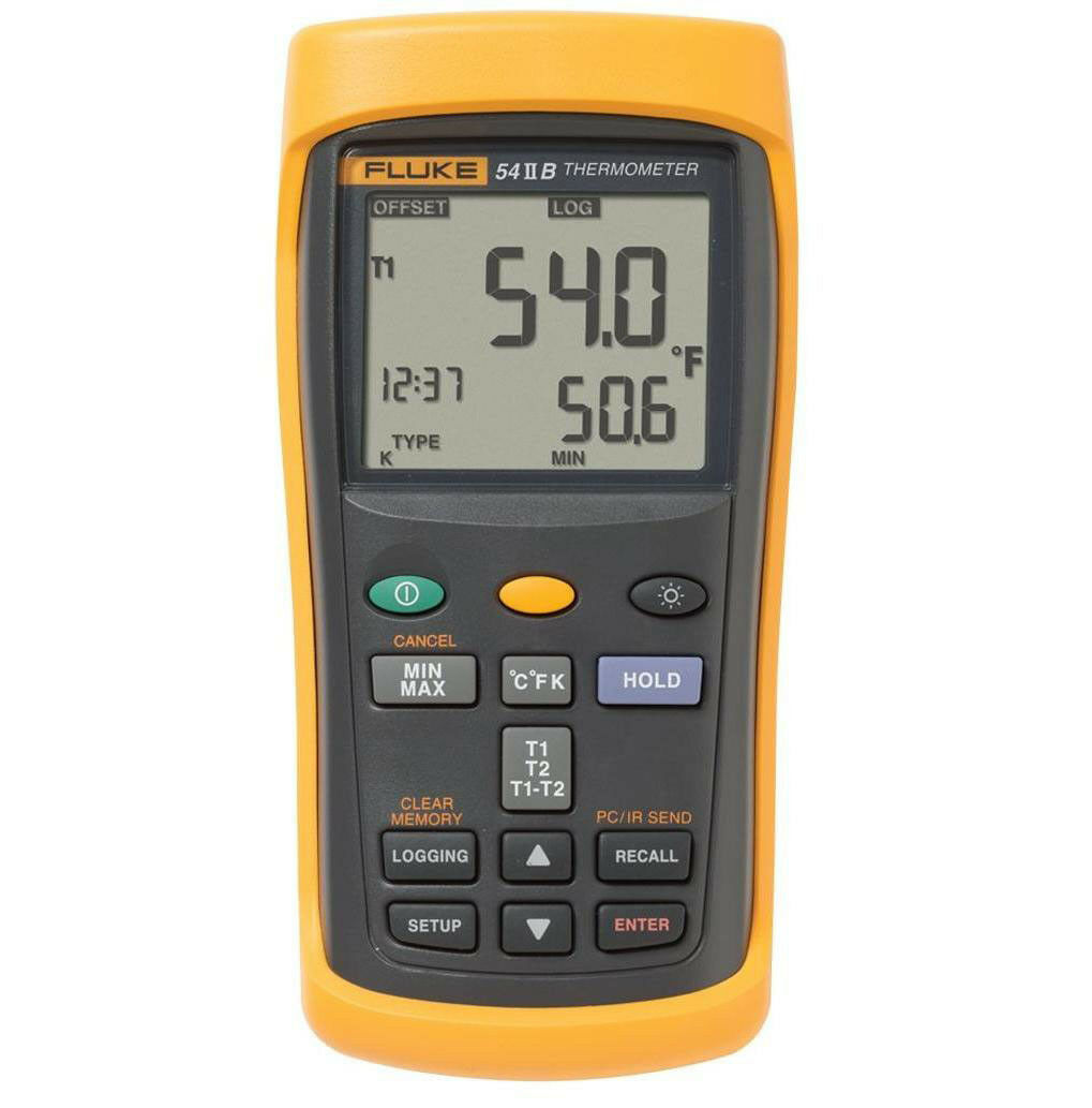 Fluke 54 II B Temperatur-Messgerät Thermometer -250 - +1767 °C E, J, K, N, R, S