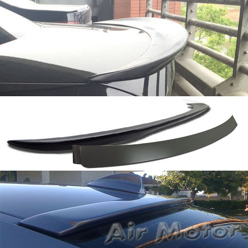 Unpainted For BMW 3-Series E90 4D A Roof /& Rear Performance Trunk Wing Spoiler