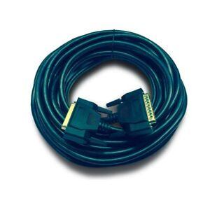 Black 10m ILDA laser cable, shielded, gold plated plugs. Australian Stock.