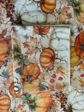 Give Thanks II Fabric Panel #9595 33 Autumn Pumpkins Quilt Shop Quality Cotton
