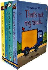 That S Not My Transport Collection Usborne Touchy Feely 4 Books Set