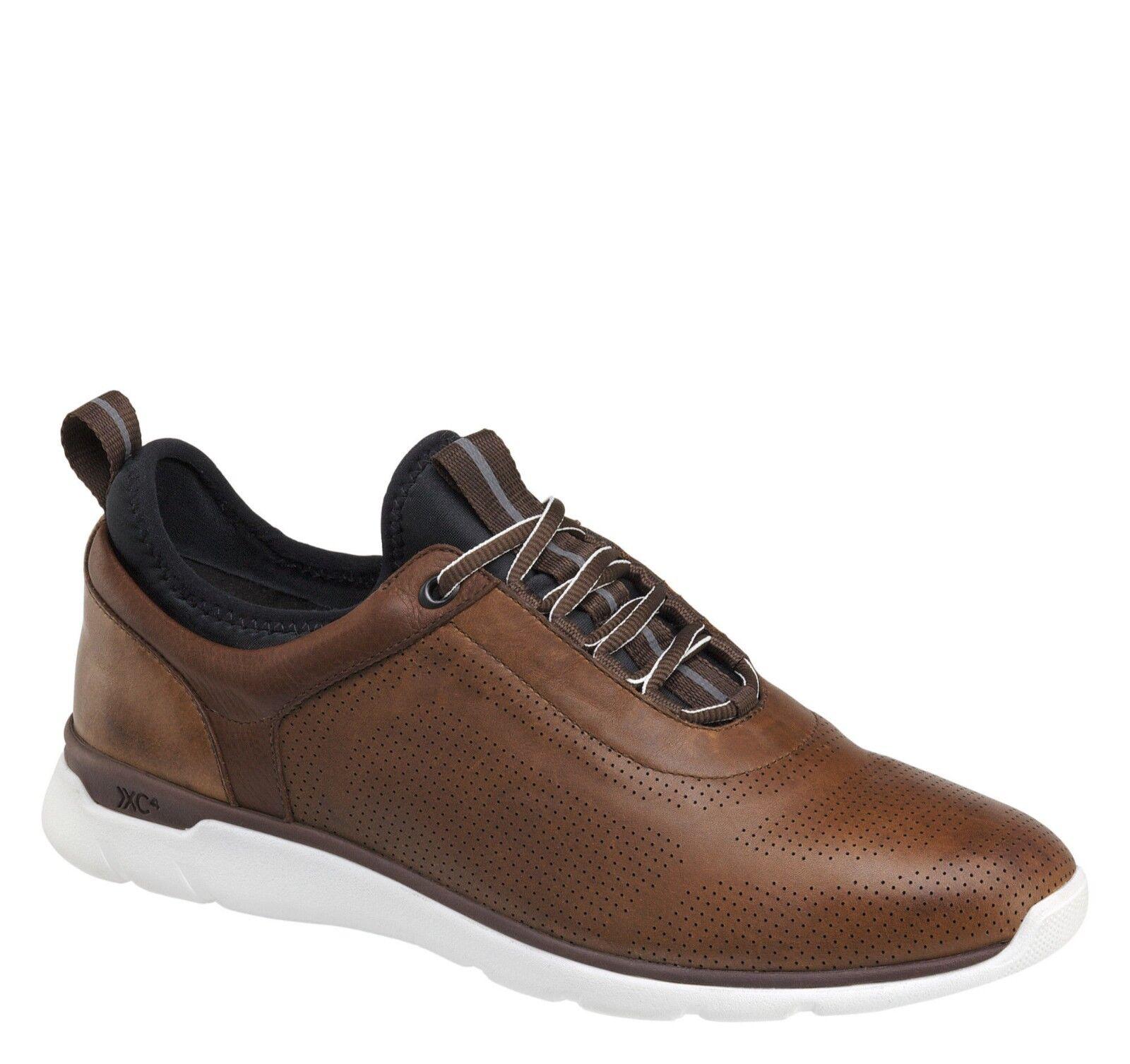 Johnston Murphy Prentiss Mahogany Leather Multi-Width Breathable shoes NIB 10 M