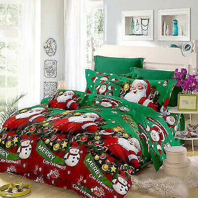 Xmas Bedding Set Duvet Quilt Cover Comforter Covers Bed Sheet Pillowcase Decor