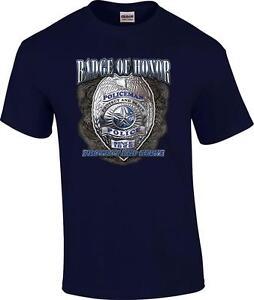 Badge Of Honor Policeman Protect And Serve Police Officer Cop Hoodie Sweatshirt