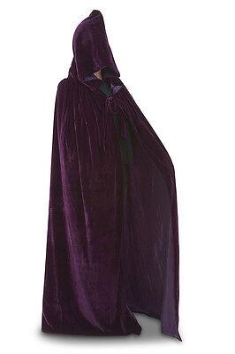 Purple silk cape