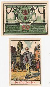 Germany-50-Pfennig-1921-Notgeld-Burg-Giebichenstein-UNC-Uncirculated-Banknote