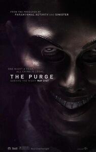 Die Purge (2013) Advance Zweiseitig Original Kinofilm Plakat Ethan Hawke