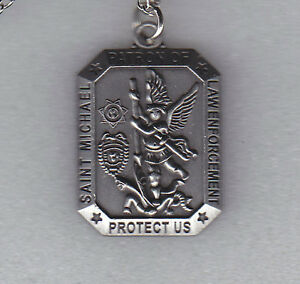 sku silver prayer michael card shield tone st necklace store small products