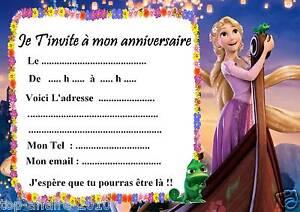 5 cartes invitation anniversaire Raiponce 02 d'autres articles en vente !! | eBay