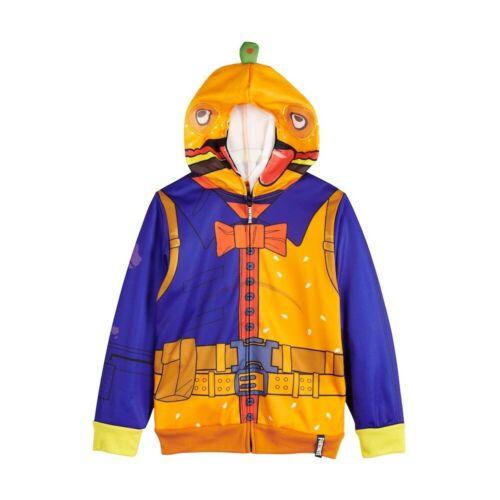 Fortnite Cosplay Garçons Costume Sweat à Capuche Full Zip Veste Avec Maille Visage Neuf avec étiquettes