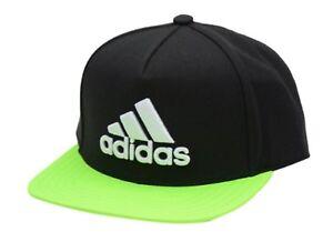a855f255 Details about Adidas Men X Flat Caps Baseball Hat Golf Black/Volt Football  OSFM Hat Cap BQ1449