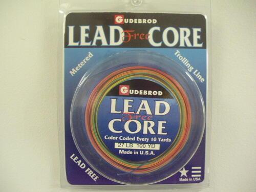 "Gudebrod /""Lead Free/"" Lead Core 15-45 Lb 100//200 Yd 10 Color Fishing Line"