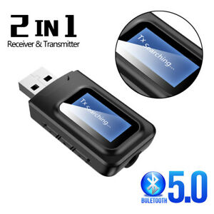 USB-Bluetooth-5-0-Transmitter-Receiver-Stereo-Audio-Adapter-AUX-3-5mm-TV-CAR-PC