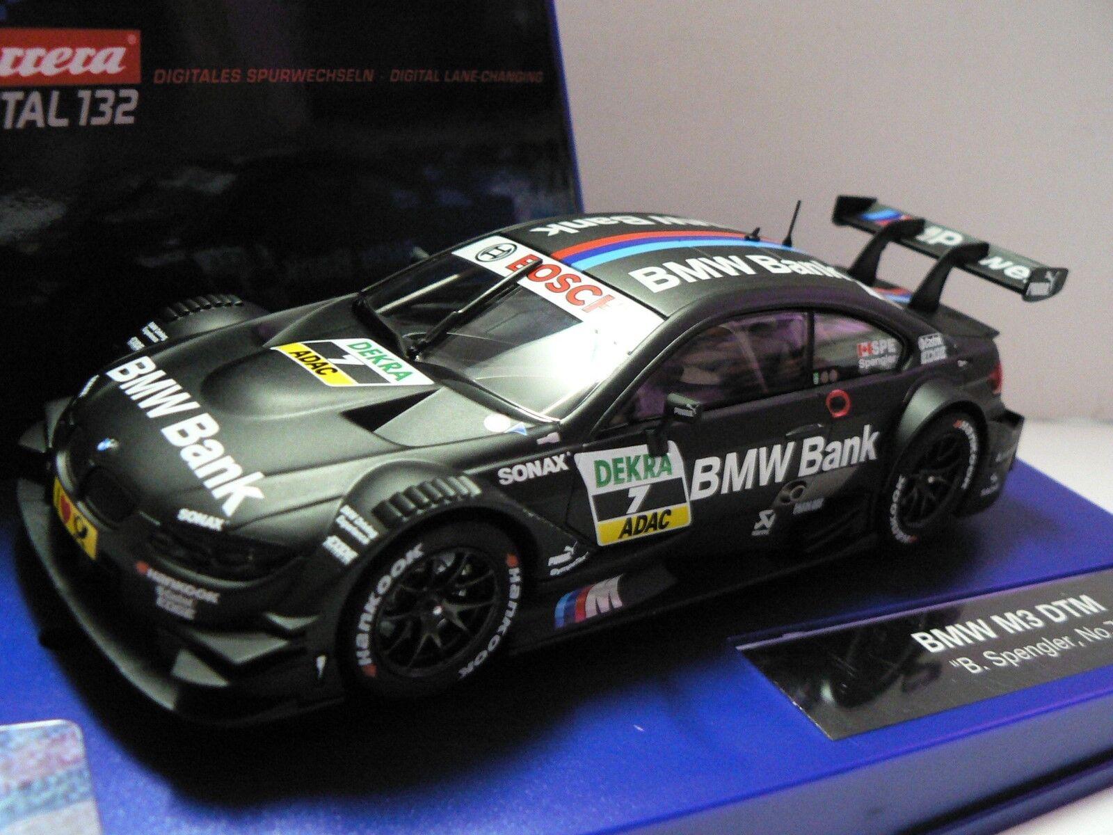 Carrera Digital 132 30662 BMW M3 DTM Bruno Spengler N° 7 Nuevo