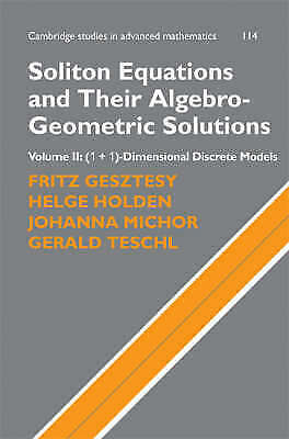 Soliton Equations and Their Algebro-Geometric Solutions: Volume 2, (1+1)-Dimensi