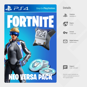 Fortnite Neo Versa 2000 V Bucks Ps4 Digital Code Eu Ebay