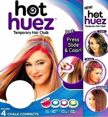 Capace Novità 2er Set Hot Huez Sexy Hair Chalk Capelli Gesso Capelli Tinta Per Capelli Cipria-mostra Il Titolo Originale Fabbricazione Abile