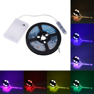 5V-RGB-5050-SMD-LED-Strip-Light-with-Battery-Box-Waterproof-Changeable-Light-New