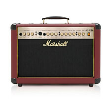 MARSHALL AS50DR 50W ACOUSTIC SOLOIST COMBO DFX, OX-TAIL BLOOD RED LTD EDITION