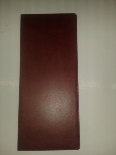 board burgundy leather look horizontal pock Lottery ticket holder new type