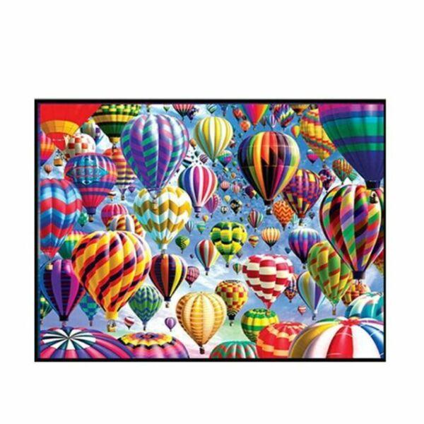 DIY Kreuzstichpackung vorgezeichnet Handarbeit Heissluftballon zum