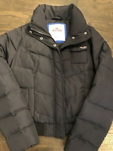 Hollister Jacket Coat Large Down Size Details about Blue Puffer Navy Women's qUMpSzV
