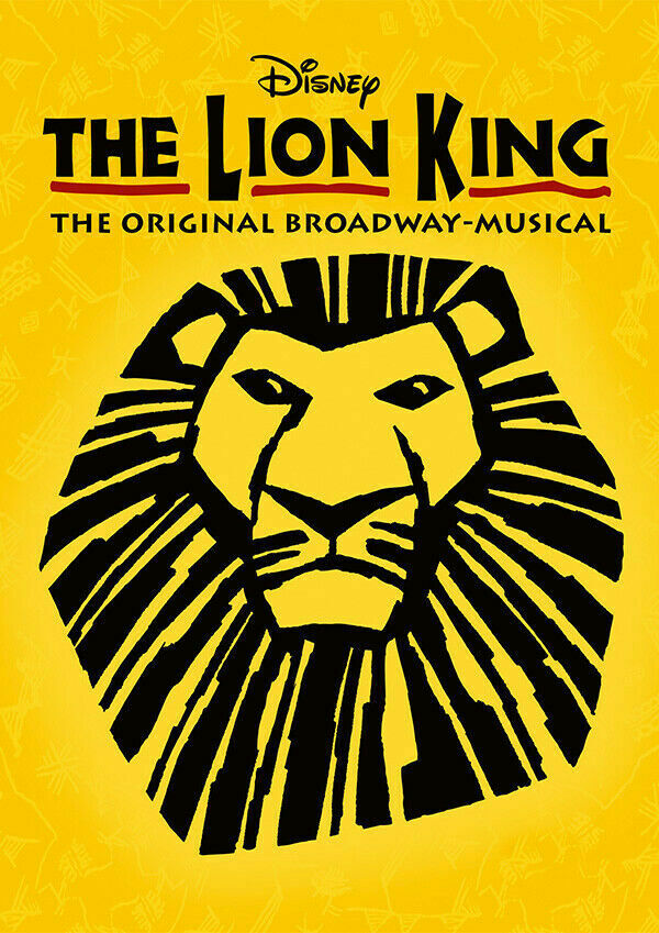 Le Roi Lion Stage Show Musical Iron On T-shirt Transfert A5