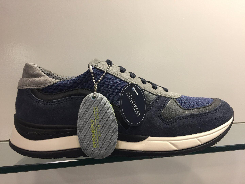 marchi di moda STONEFLY scarpe da ginnastica Scarpe Uomo WARREN WARREN WARREN 2 VELOUR NYL-COL.DENIM TITANIUM 108656 U23  vendita calda online
