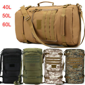d170cae496 40L 50L 60L Large Travel Hiking Backpack Rucksack Tactical Bag Hand ...