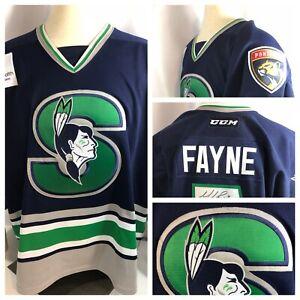 Retro-Springfield-Indians-Thunderbirds-Game-Worn-AHL-Hockey-Jersey-Fayne-COA