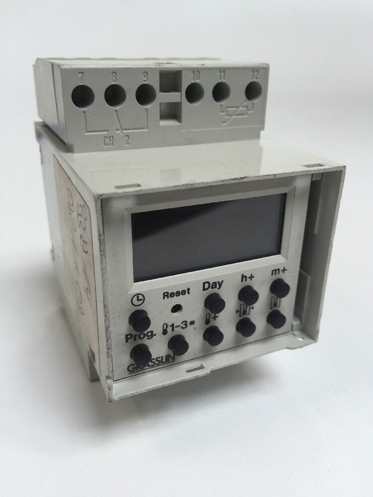Grässlin Schaltuhr Schaltuhr Schaltuhr V86/1 Chrono 220-240V 16(2.5)A , 50-60Hz 8176bd