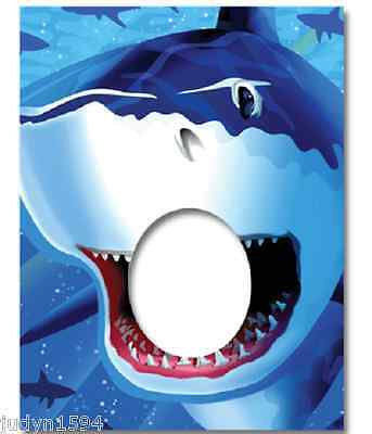 SHARK SPLASH PHOTO BANNER PARTY DECORATION PROP UNDER THE SEA OCEAN NAUTICAL