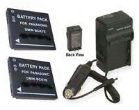 Two 2 Batteries + Charger For Panasonic Dmc-fh27 Dmc-fh25r Dmc-fh7p Dmc-fh25s