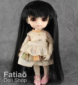 New-Dollfie-Lati-Y-Pukifee-5-6-034-Long-Doll-Wig-Black